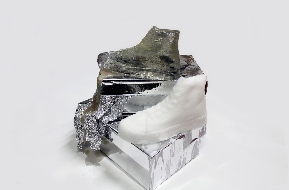 SHOE SCULPTURES: RESIN AND WAX